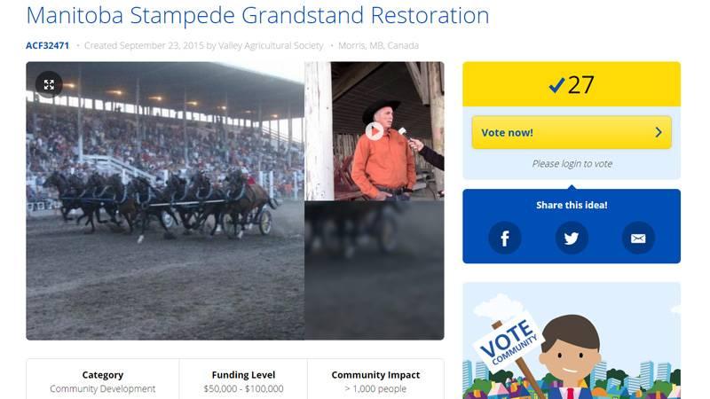 Manitoba Stampede – Granstand Restoration Voting